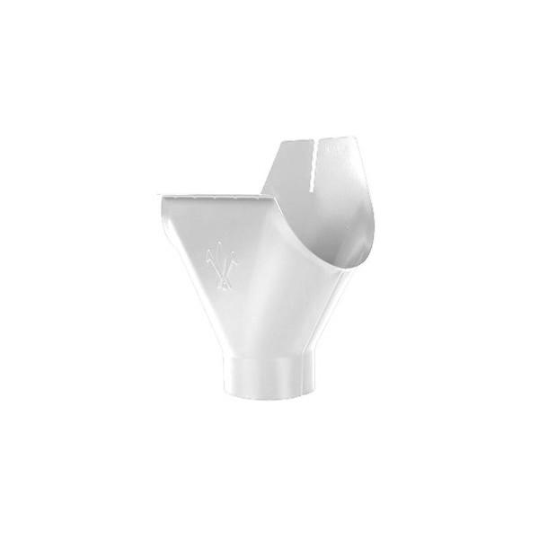 Воронка желоба d90/125мм-d100/150мм Белый