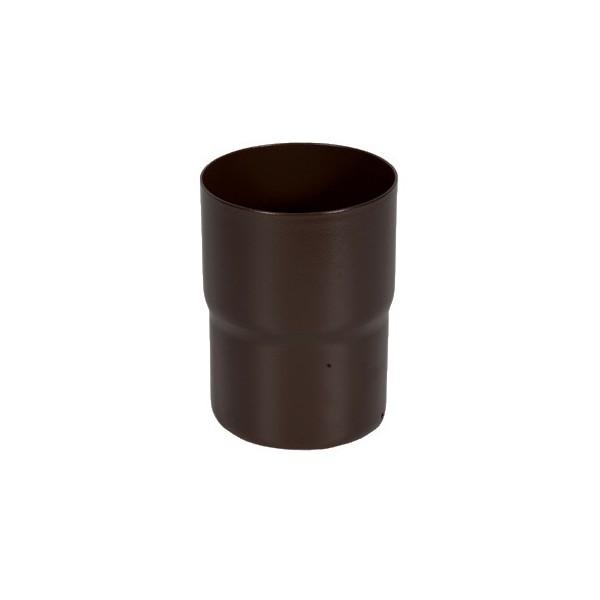 Соединитель трубы d90мм-d100мм Тёмно-коричневый