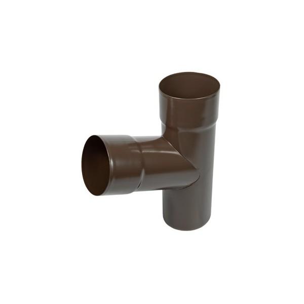 Тройник трубы d90-d100 Коричневый
