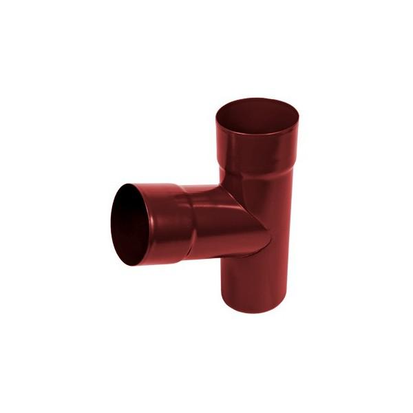 Тройник трубы d90-d100 Красный