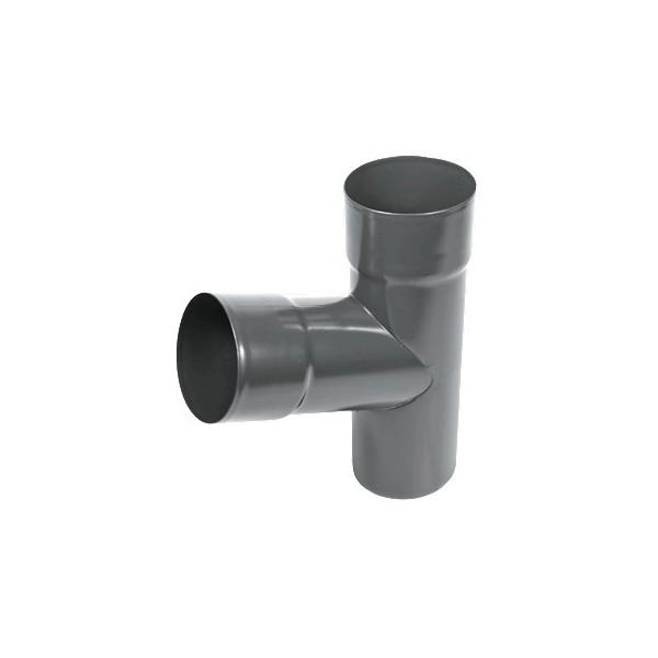 Тройник трубы d90-d100 Серый