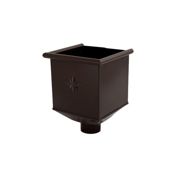 Водосборная воронка d90мм-d100мм Серый Тёмно-коричневый