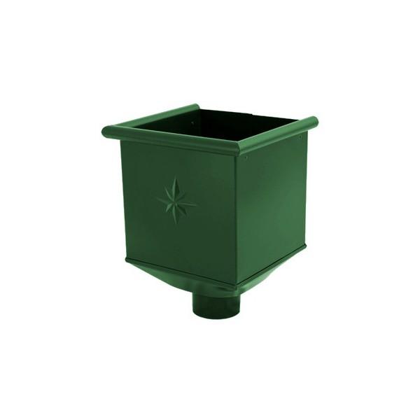 Водосборная воронка d90мм-d100мм Серый Зелёный