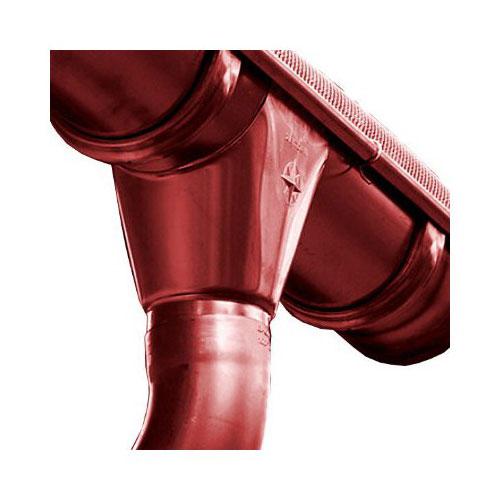 Водосток AquaSystem Сталь d125x90 Красный