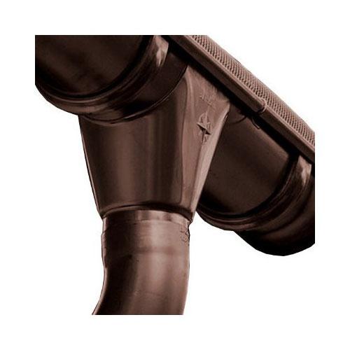Водосток AquaSystem Сталь d150x100 Тёмно-коричневый