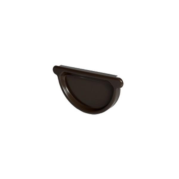 Заглушка желоба универсальная d125мм-d150мм Тёмно-коричневый