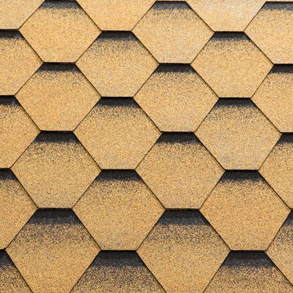 Гибкая черепица Katepal Katrilli Золотой песок