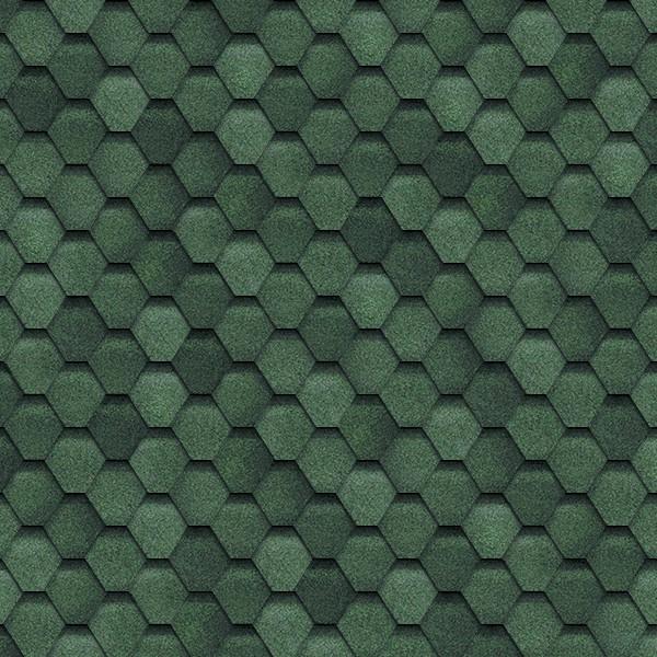 Гибкая черепица Shinglas Финская Зелёный
