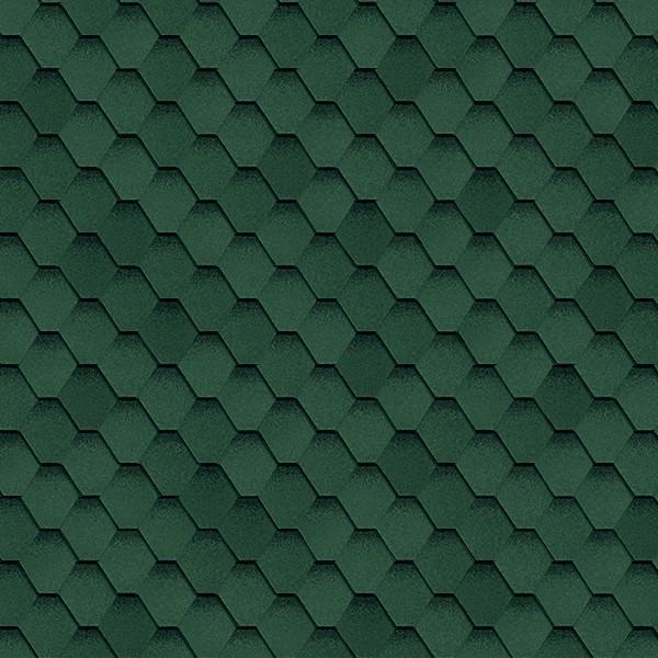 Гибкая черепица Shinglas Классик Кадриль Соната Зелёный