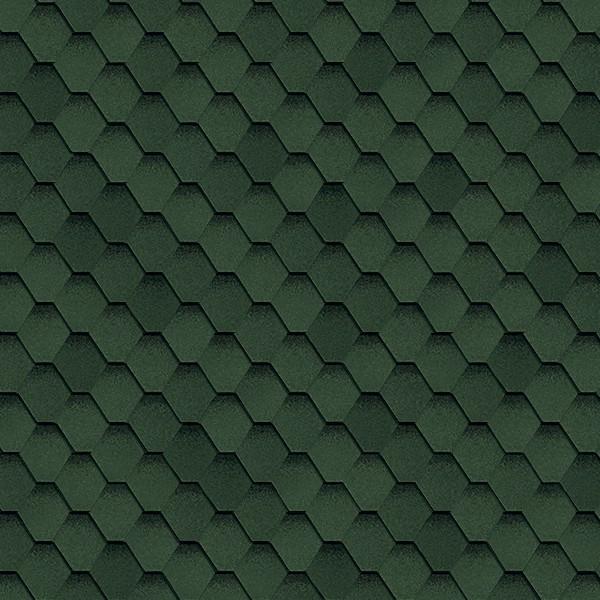 Гибкая черепица Shinglas Ультра Самба Зелёный