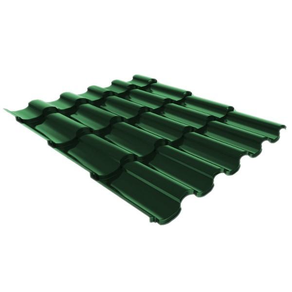 Металлочерепица Ruukki Adamante Pural Matt 0,5мм Spruce Green