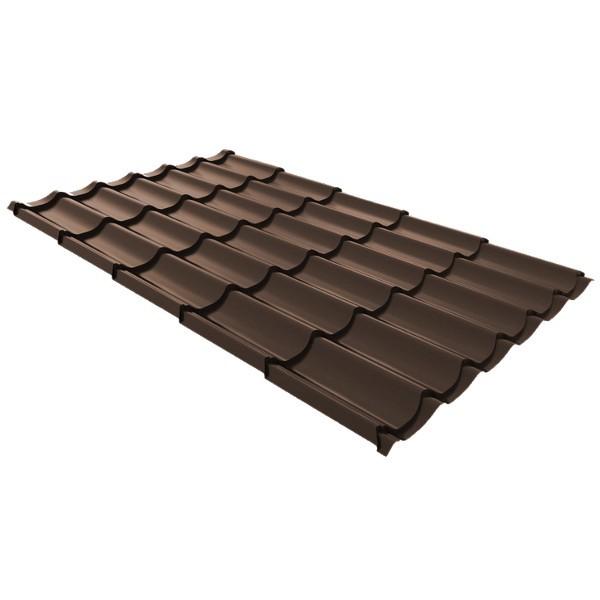Металлочерепица Ruukki Monterrey Premium Pural 0,5мм Dark Brown