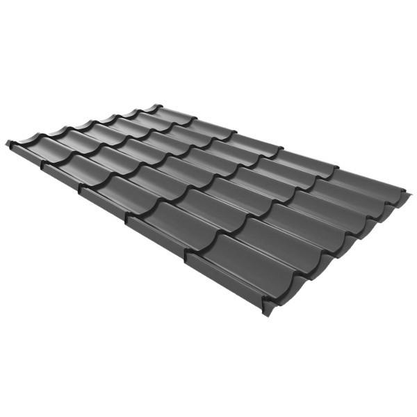 Металлочерепица Ruukki Monterrey Premium Pural 0,5мм Dark Grey
