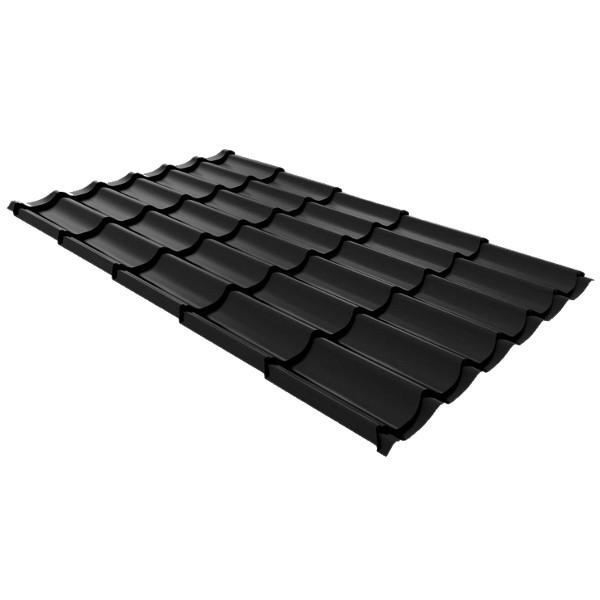 Металлочерепица Ruukki Monterrey Premium Pural Matt 0,5мм Black