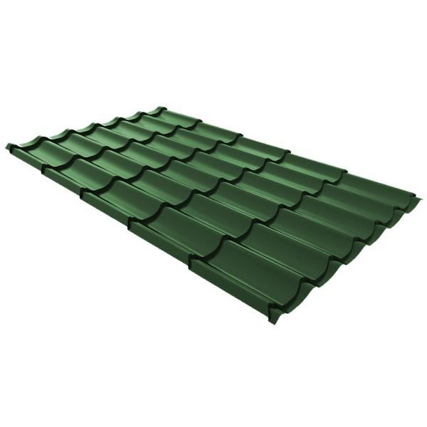 Металлочерепица Ruukki Monterrey Premium Pural Matt 0,5мм Spruce Green