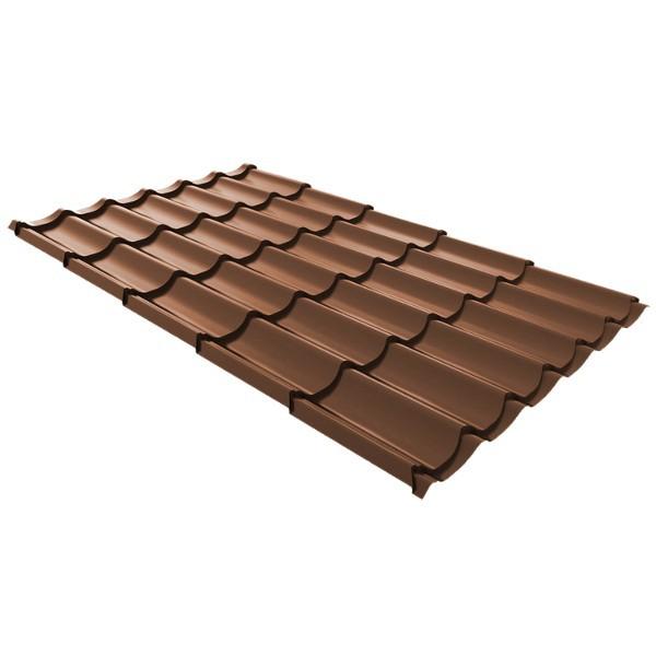 Металлочерепица Ruukki Monterrey Premium Pural Matt 0,5мм Tile Red