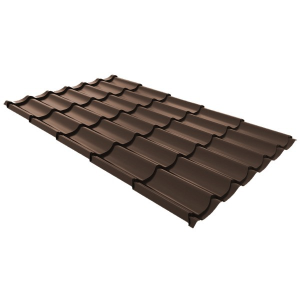 Металлочерепица Ruukki Monterrey Standard Polyestr 0,5мм Dark Brown