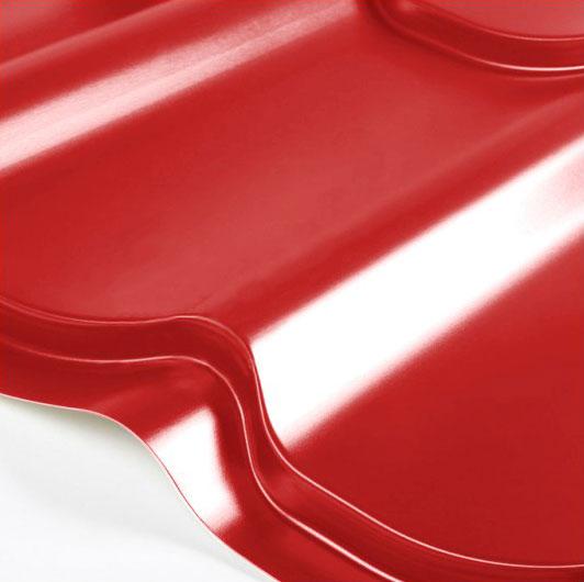 Металлочерепица Grand Line Classic Granite HDX 0.5 Красный