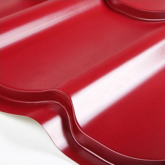 Металлочерепица Grand Line Classic Granite HDX 0.5 Красное вино