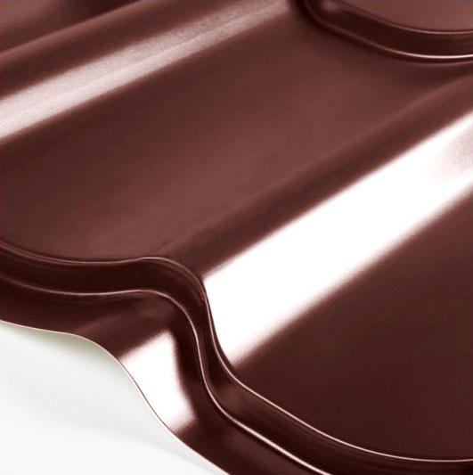 Металлочерепица Grand Line Classic Granite HDX 0.5 Шоколад