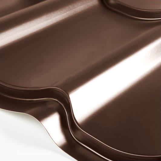 Металлочерепица Grand Line Classic Granite HDX 0.5 Тёмно-коричневый