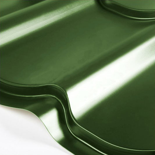 Металлочерепица Grand Line Classic Granite HDX 0.5 Зелёная хвойя