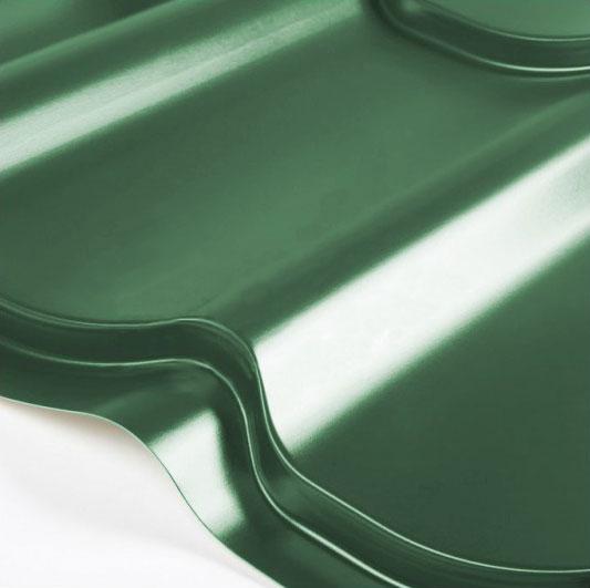 Металлочерепица Grand Line Classic Granite HDX 0.5 Зелёный мох