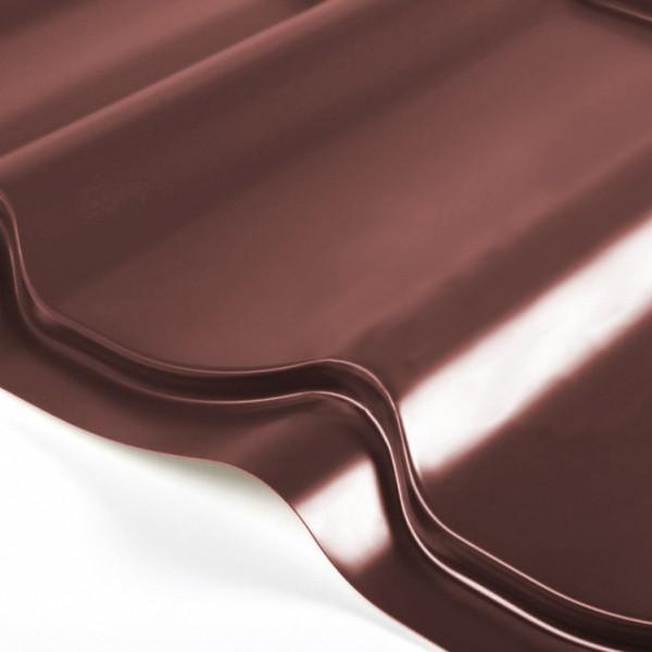 Металлочерепица Grand Line Classic PE 0.5 Шоколад