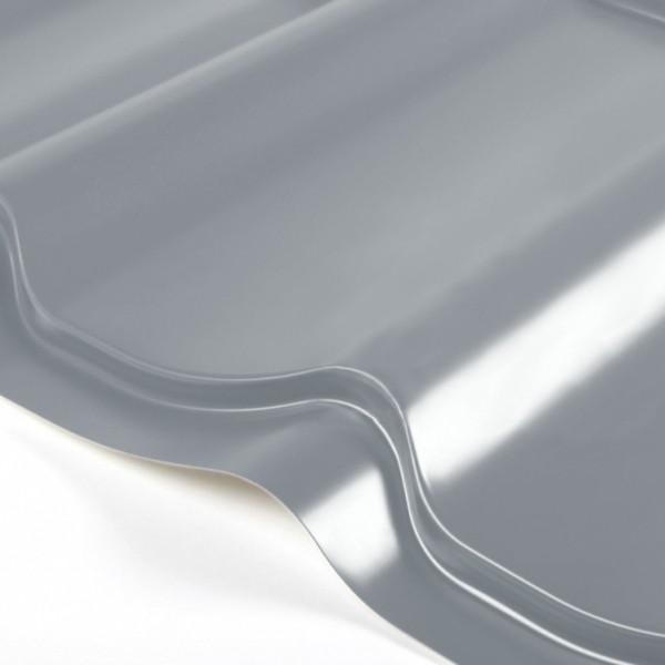 Металлочерепица Grand Line Classic PE 0.5 Сигнально-серый
