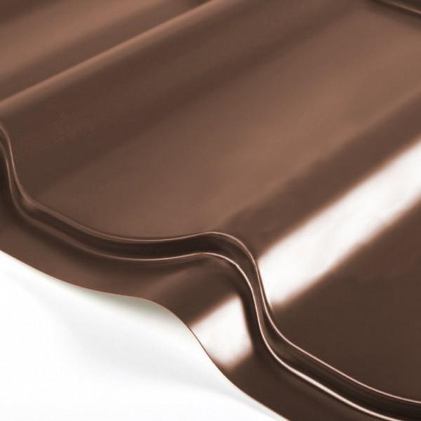 Металлочерепица Grand Line Classic PE 0.5 Тёмно-коричневый