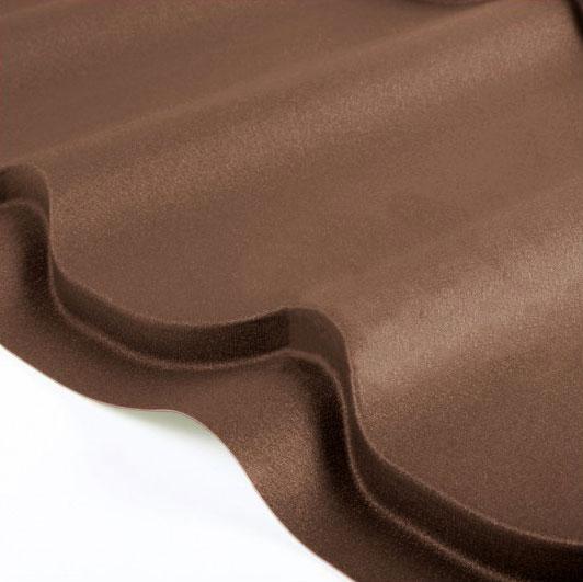 Металлочерепица Grand Line Classic Velur 0.5 Тёмно-коричневый