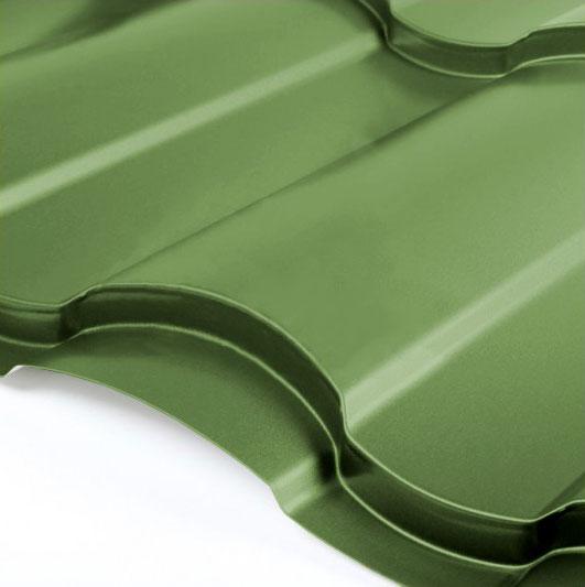 Металлочерепица Grand Line Country Granite HDX 0.5 Зелёная хвойя
