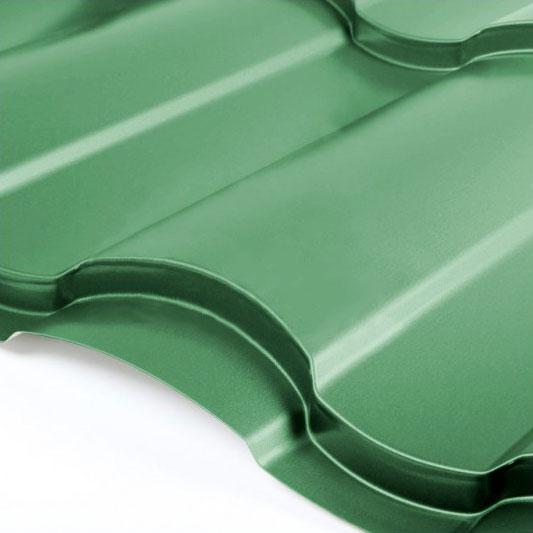 Металлочерепица Grand Line Country Granite HDX 0.5 Зелёный мох