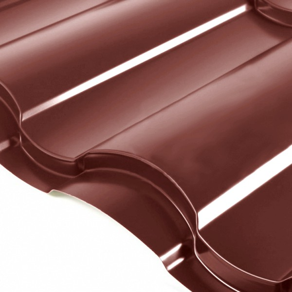 Металлочерепица Grand Line Country PE 0.5 Шоколад