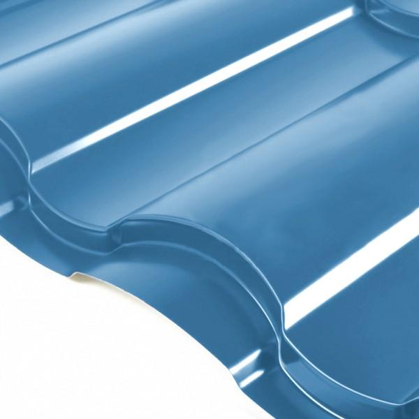 Металлочерепица Grand Line Country PE 0.5 Сигнально-синий