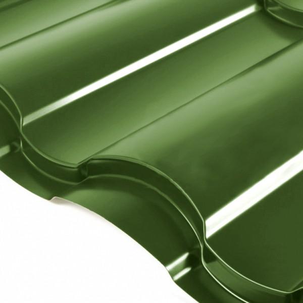 Металлочерепица Grand Line Country PE 0.5 Зелёная хвойя