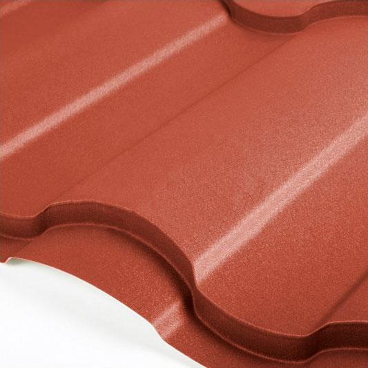 Металлочерепица Grand Line Country Velur 0.5 Красно-коричневый