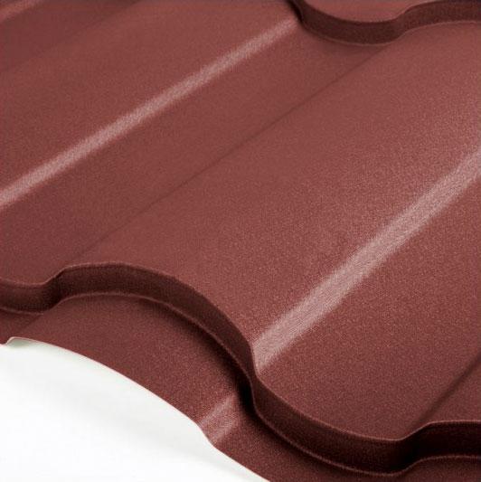 Металлочерепица Grand Line Country Velur 0.5 Шоколад