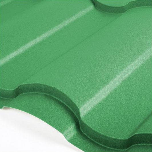 Металлочерепица Grand Line Country Velur 0.5 Зелёный мох