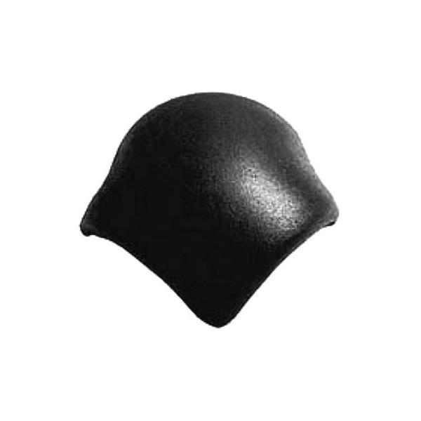 Натуральная черепица Braas Франкфуртская вальмовая Чёрная