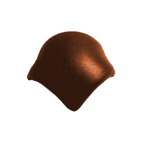Натуральная черепица Braas Франкфуртская вальмовая Тёмно-коричневая