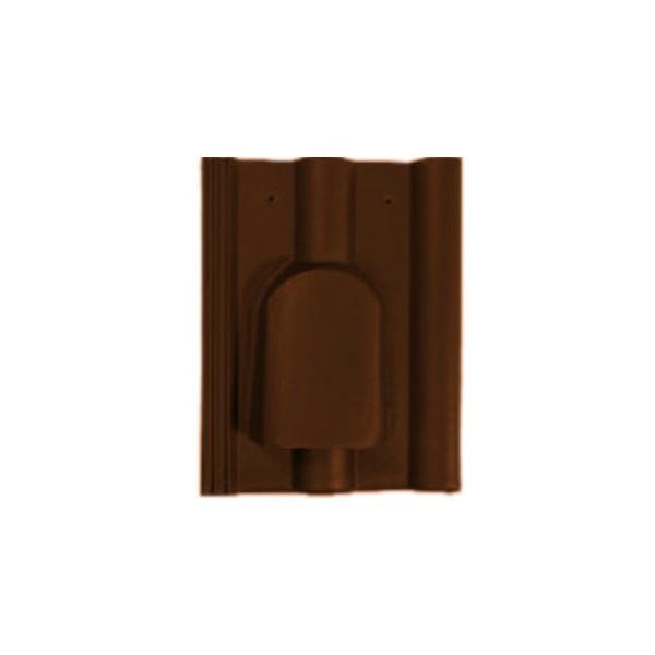 Натуральная черепица Braas Франкфуртская вентиляционная Тёмно-коричневая
