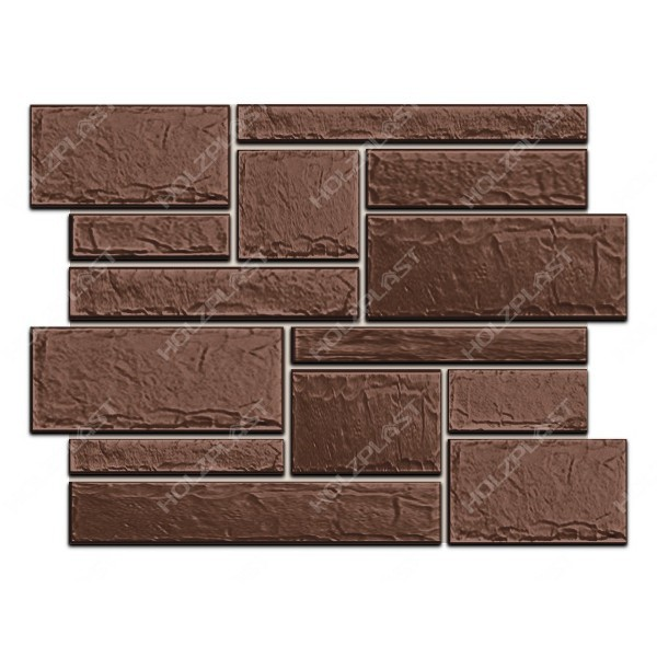 Фасадная панель Holzplast Wandstein Бут Тёмно-коричневый