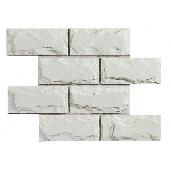 Фасадная панель Holzplast Wandstein Доломит Белый
