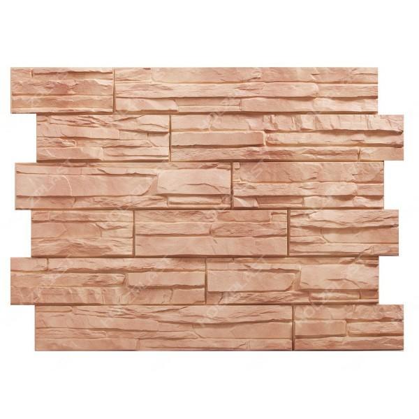 Фасадная панель Holzplast Wandstein Скол Светло-коричневый