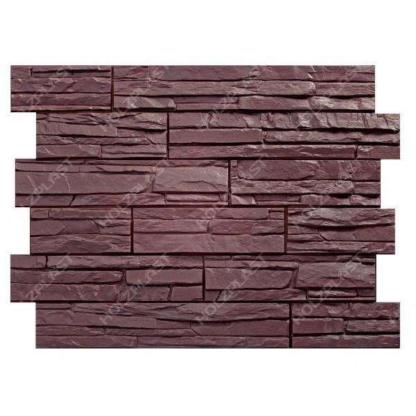 Фасадная панель Holzplast Wandstein Скол Тёмно-коричневый