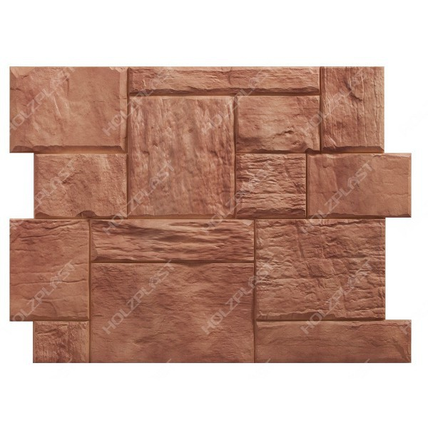 Фасадная панель Holzplast Wandstein Туф Светло-коричневый
