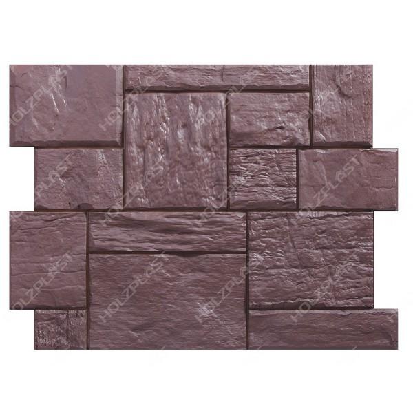 Фасадная панель Holzplast Wandstein Туф Тёмно-коричневый