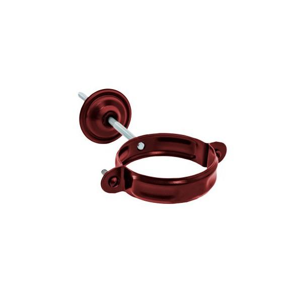 Хомут для крепления трубы d90мм-d100мм Красный