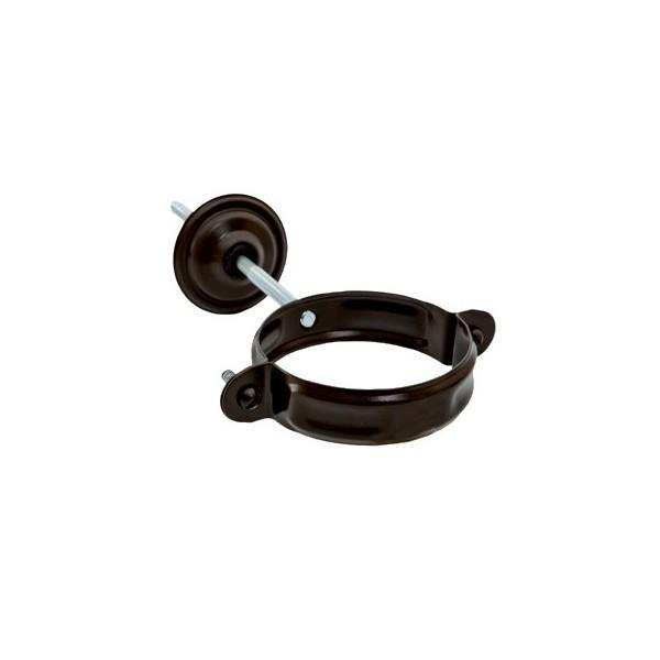 Хомут для крепления трубы d90мм-d100мм Тёмно-коричневый